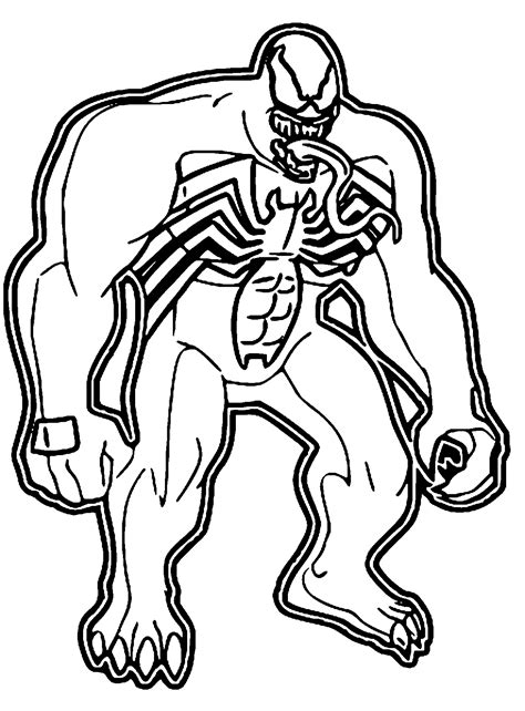 coloring pages  venom coloring home