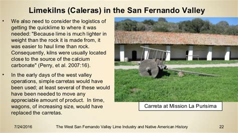 the west san fernando valley lime industry and