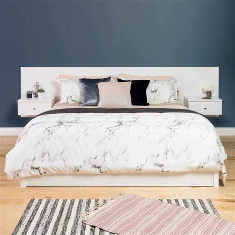 white king headboard prepac white floating king headboard with nightstands whhk