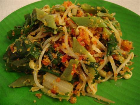tasty indonesian food urap urap sayur
