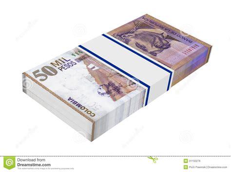 Dinero De Los Pesos Colombianos Aislado En El Fondo Blanco