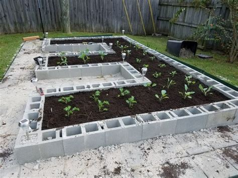 cinderblock garden ideas   veggies flowers