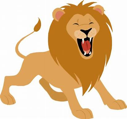 Lion Cartoon Roaring Clipart Clip Lions Roar