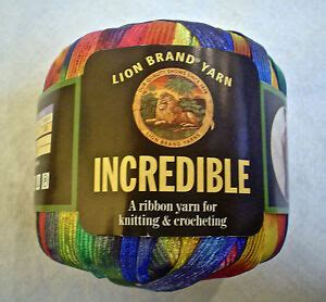 Lion Brand Incredible Yarn Rainbow 201 Fun Vintage Ribbon