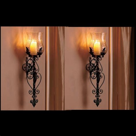24 black wrought iron candle sconces black wrought iron industrial wall sconces painting finish