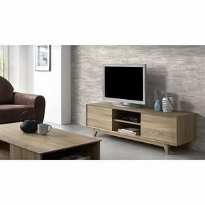 Meuble Chene Clair : sonoma meuble tv 150 cm coloris ch ne clair achat ~ Edinachiropracticcenter.com Idées de Décoration
