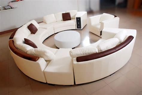 canapé d angle rond canapé d 39 angle en cuir italien en rond design et pas cher