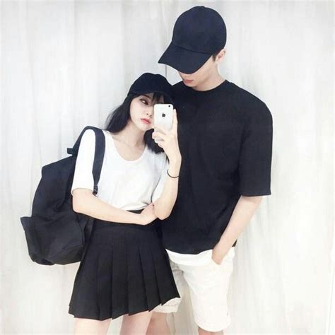 Couple Clothes Couple Outfits Couple Things Couple Pics Couple Goals Korean Couple Ulzzang ...
