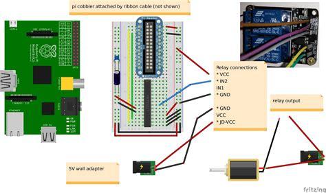 garage door low gpio rpi model b mcp23017 relay board gpa0 pin low