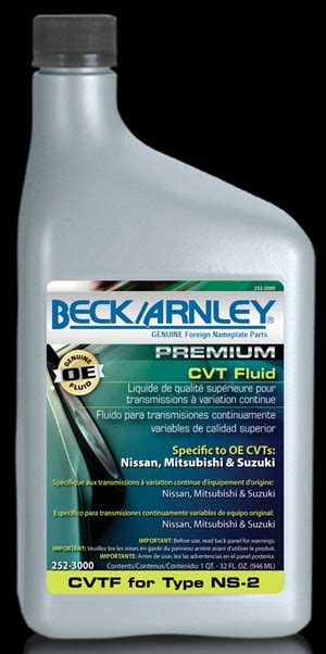 Cvt Fluid by Beck Arnley Adds Cvt Fluid For Type Ns 2 To Line Of Oe