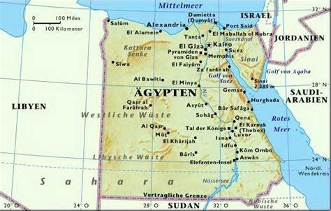 karten von aegypten mit strassenkarte und sehenswuerdigkeiten