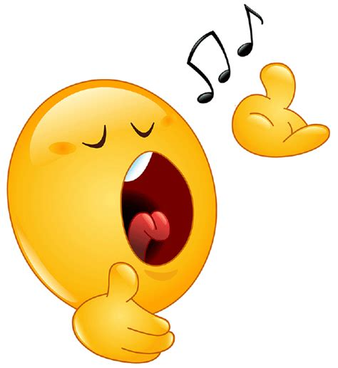 singing smiley symbols emoticons