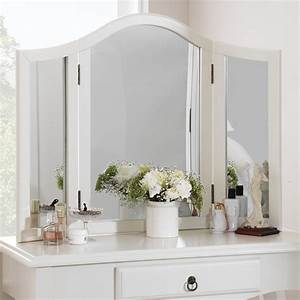 ROMANCE Antique White Dressing Table Mirror,Stunning Large