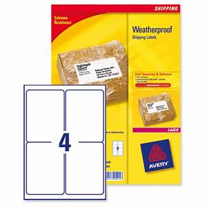 avery weatherproof shipping labels laser 4 per sheet 99 With avery shipping labels 4 per page