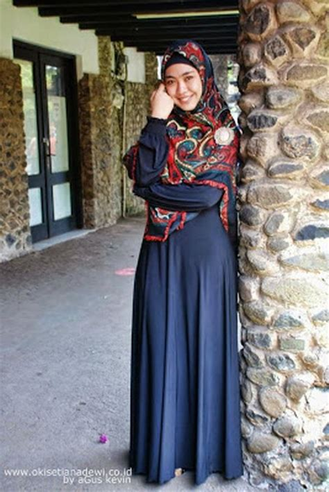 tampil cantik  anggun  gamis syari ide model