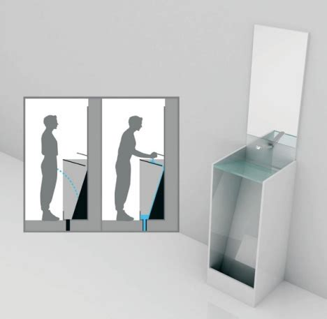 portable toilet sink combo combination urinal concept surprisingly blends sink toilet