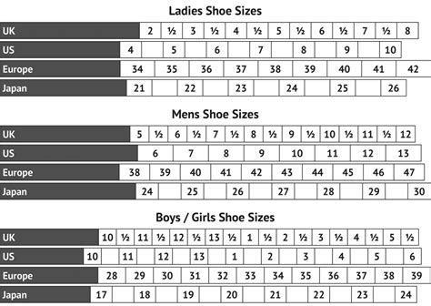 size chart mm dance supplies