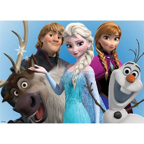 teal home decor official disney frozen elsa olaf printed canvas wall