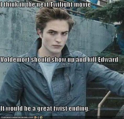 Edward Meme - plot twist harry potter vs twilight megan stuart s notebook