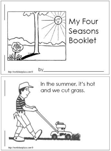 four seasons booklet pre k weather seasons for