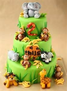 Jungle Safari Theme Baby Shower Cake