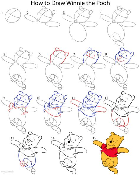 How To Draw Winnie The Pooh (step By Step Pictures