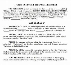 product licensing agreement template sample license With product license agreement template