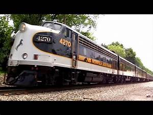 NS OCS train (Norfolk Southern Office Car Special) - YouTube