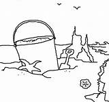 Sand Coloring Castle Drawing Bucket Graphic Colornimbus sketch template