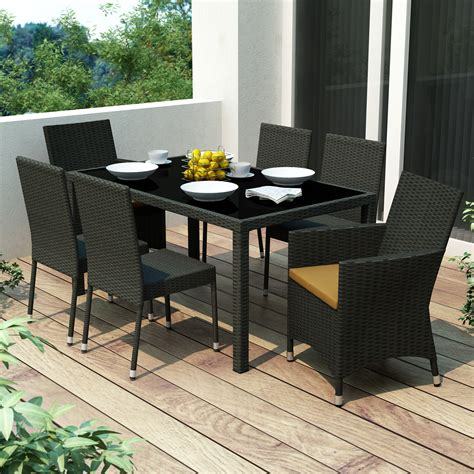 lowes canada outdoor dining sets corliving z 406 tpp park terrace 7 patio dining set