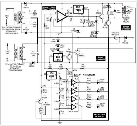 Automatic Battery Charger Circuits Projects