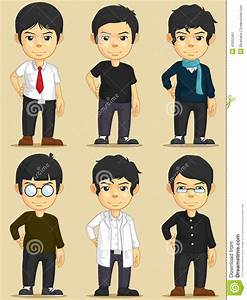 Handsome Young Man Character Set Stock Vector - Image ...