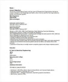 advertising resumes entry level marketing resume sles for successful hunters