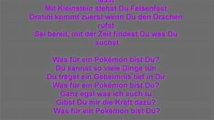 Was Für Ein Pokemon Bist Du : pok mon song was f r ein pok mon bist du songtext youtube ~ Orissabook.com Haus und Dekorationen