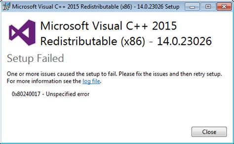 fix your pc 0x80240017 unspecified error while