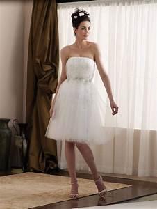 short tea length taffeta tulle appliques informal wedding With informal wedding dress