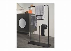 Porte Photo Sur Pied : gru porte serviette sur pied design en inox noir ou blanc ~ Teatrodelosmanantiales.com Idées de Décoration