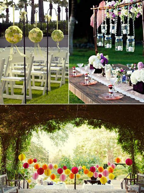 wedding ideas 15 intelligent ideas for an outdoor garden