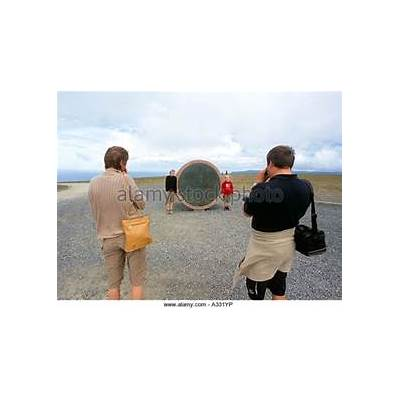 Children Earth Monument North Cape Stock Photos &