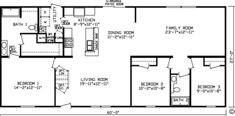 House Plans With Large Family Rooms by Floor Plans Northland Manufactured Home Sales Inc