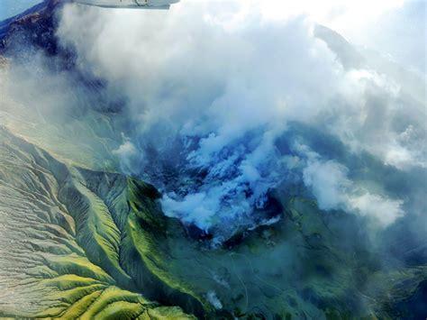 zealands white island volcano rumbles  life