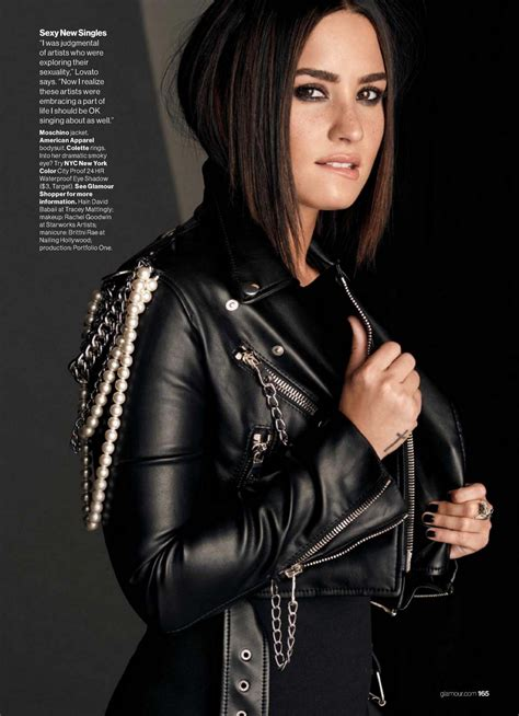 demi lovato glamour magazine usa november  issue