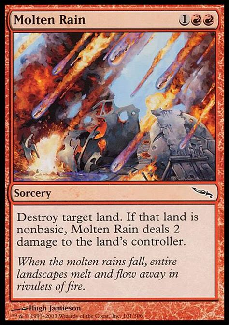 molten rain mtg card