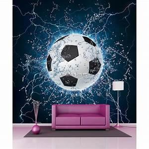 Papier Peint Geant : papier peint g ant ballon de foot 11085 stickers muraux deco ~ Premium-room.com Idées de Décoration