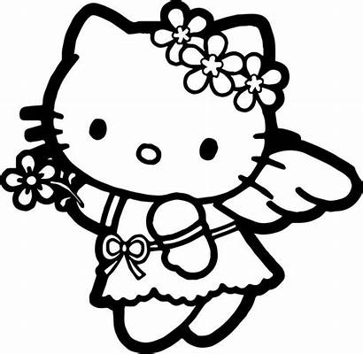 Kitty Hello Coloring Pages Colouring