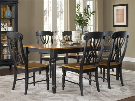 marvelous black dining sets  farm style dining room sets