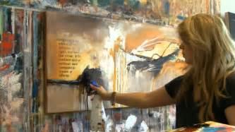 abstract acrylic painting demo acrylmalen abstrakt im