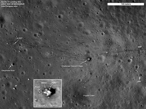 Nasa Satellite Records Apollo Moon Landing Sites In High