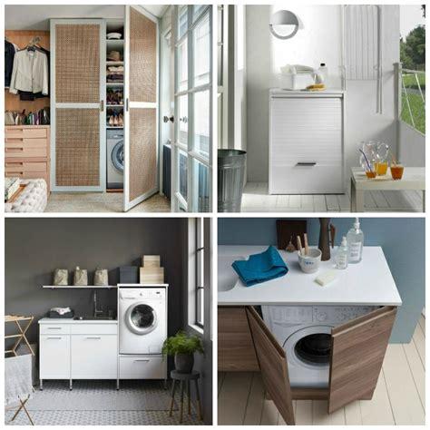 lave linge dans cuisine meuble machine à laver pour un coin buanderie pratique