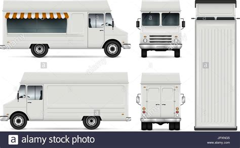 food truck template food truck vector template for car branding and advertising isolated stock vector